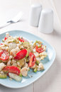 Hearts of palm salad with avocado and tomatoes cherry Royalty Free Stock Photos