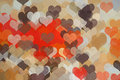 Hearts pattern abstract illustration Stock Photography