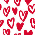 Hearts pattern red icons for Valentine day art Royalty Free Stock Photo