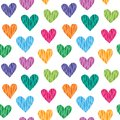 Hearts pattern seamless with wild color Royalty Free Stock Photos