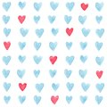 Hearts pattern stylish with watercolor vector illustration Royalty Free Stock Images