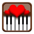 Hearts on piano Royalty Free Stock Photography