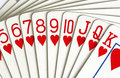Hearts playing cards Stock Images