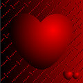 Hearts on a red background Stock Photos