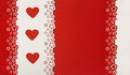Hearts Red Background. Valentine Day Wedding Greeting Card