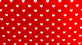 Hearts On The Red Background