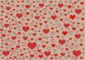 Hearts Red Background Wallpape...