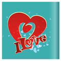 Hearts a red heart and some text in blue background Royalty Free Stock Photography