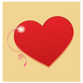 Hearts a red heart in a yellow background Royalty Free Stock Photo