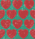 Hearts retro grunge seamless Royalty Free Stock Photography