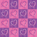 Hearts seamless background fabric imitation festive valentine s day Royalty Free Stock Photography
