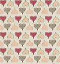 Hearts seamless background in vintage style love st valentine day pattern bright vector Royalty Free Stock Photography