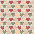 Hearts seamless background in vintage style love st valentine day pattern bright vector Stock Photos