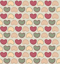 Hearts seamless background in vintage style love st valentine day pattern bright vector Royalty Free Stock Photos