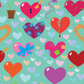 Hearts seamless pattern background Royalty Free Stock Images