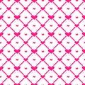 Hearts Seamless Pattern Background