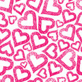 Hearts seamless pattern, Love theme background Royalty Free Stock Photo