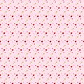 Hearts seamless pattern. Pink vector background with heart. Love template for walentines day or wedding. Print or web flat design