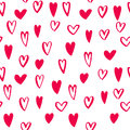 Hearts seamless pattern Valentine day vector art icons Royalty Free Stock Photo