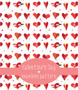 Hearts seamless pattern valentine s day with humorous concept Royalty Free Stock Images