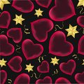 Hearts seamless pattern Wrapping paper design Scrapbook Valentine`s day