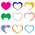 Hearts set of logo vector Royalty Free Stock Image