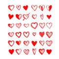 Hearts set of valentine for your design Stock Images