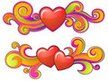 Hearts shape with swirls Stock Image