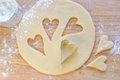 Hearts shaped cookie cutter Royalty Free Stock Photos