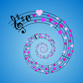 Hearts sheet music Royalty Free Stock Images