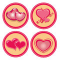 Hearts some pink icons with some and textures Royalty Free Stock Photography