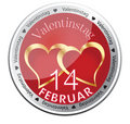 Hearts of St Valentine icon Royalty Free Stock Images