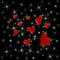 Hearts and Stars Seamless Background Royalty Free Stock Photos