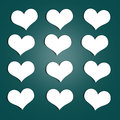 Hearts Stickers Royalty Free Stock Image