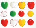 Hearts stickers Stock Photography