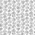 Hearts and stripes hand drawn abstract pattern. Vector love seamless background.