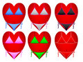 Hearts in swimsuit Stock Photography