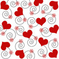 Hearts and swirls Royalty Free Stock Image
