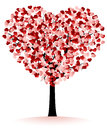 Hearts tree Royalty Free Stock Images