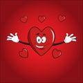 Hearts valentine cartoon