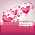 Hearts for Valentine's day card Stock Photo