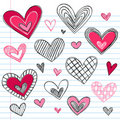 Hearts Valentine's Day Love Doodles Stock Image
