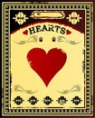 Hearts Vintage Poster Royalty Free Stock Photography