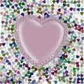 Colourful Hearts Wallpaper