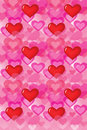Hearts_wallpaper D Royalty Free Stock Photos