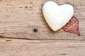 Hearts wooden background Stock Photos