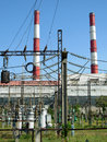 Heat electropower station run at idling speed Stock Photo