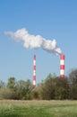 Heat and power plant in warsaw siekierki Stock Photos