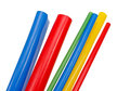 Heat shrink tubing to protect cables isolation Royalty Free Stock Photo