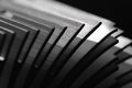 Heat sink abstract close up view of an fins shallow dof Royalty Free Stock Photo